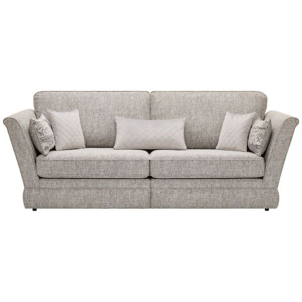 Silver Fabric Sofas 4 Seater Sofa Carrington Range Oak Furnitureland Oak Furniture Land Fabric Sofa Sofa
