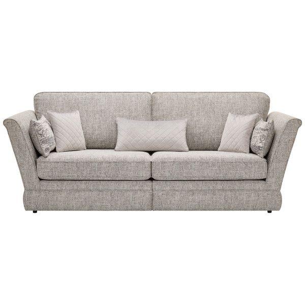 Silver Fabric Sofas 4 Seater Sofa Carrington Range Oak Furnitureland Oak Furniture Land Fabric Sofa Sofa