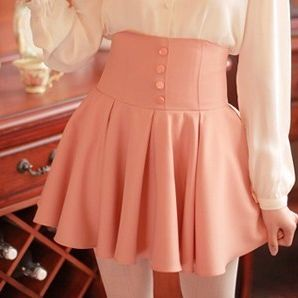 Students sweet tall waist skirt
