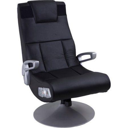 X Video Rocker Pedestal 2.1 Wireless Sound Gaming Chair, Black, 51274 - Walmart.com