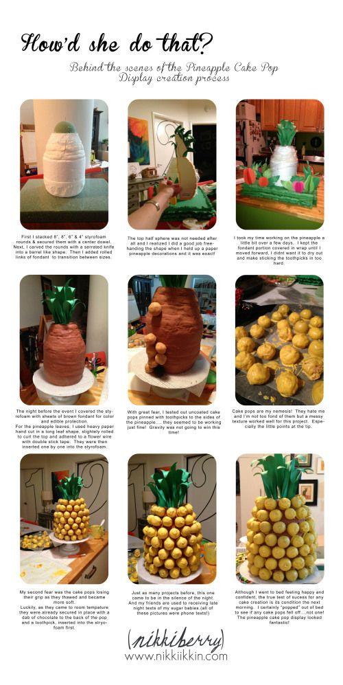 pineapple cake pop display how-to 1