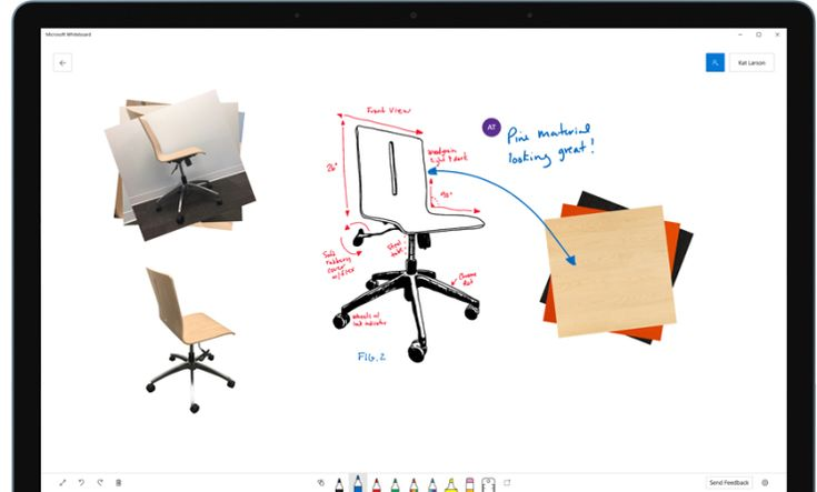 Microsoft's collaborative Whiteboard app is now available for Windows 10 users | TechCrunch