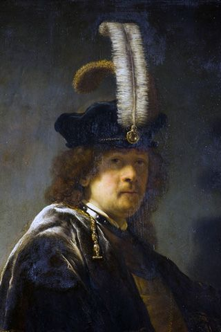 """Rembrandt, """"Self-portrait"""" ( (courtesy National Trust/PA)  the painting was finally authenticated by the world's leading Rembrandt expert, Ernst van de Wetering, after much scientific testing  from Hyperallergic"""