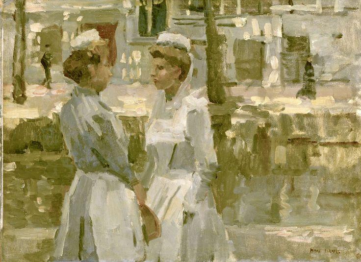Amsterdam household maidsAmsterdamse dienstmeisjes, Isaac Israels, ca. 1890 - ca. 1900
