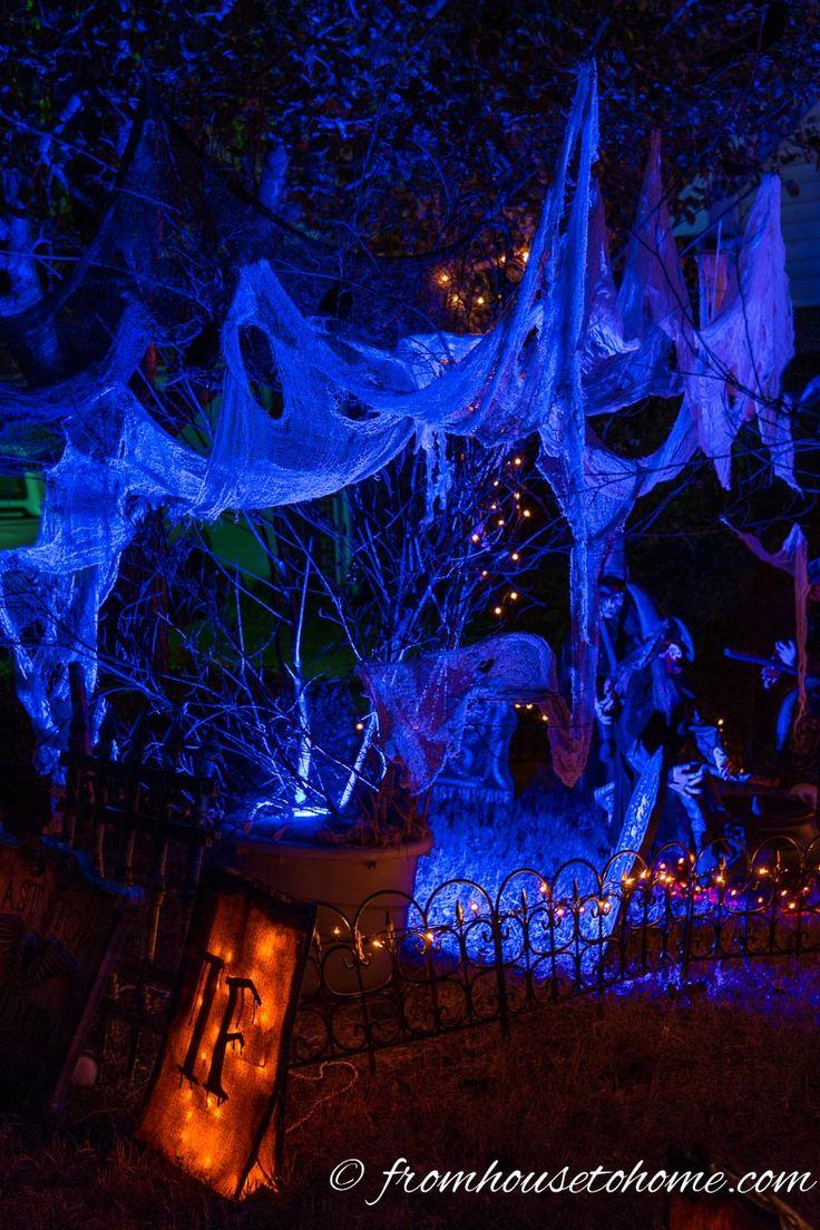 Uplighting ups the spooky factor | 7 More Ways To Create Spooky Outdoor Halloween Lighting