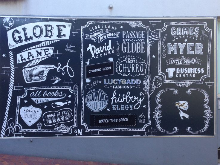 Oh Wollongong - you're getting so cool! #type #chalk