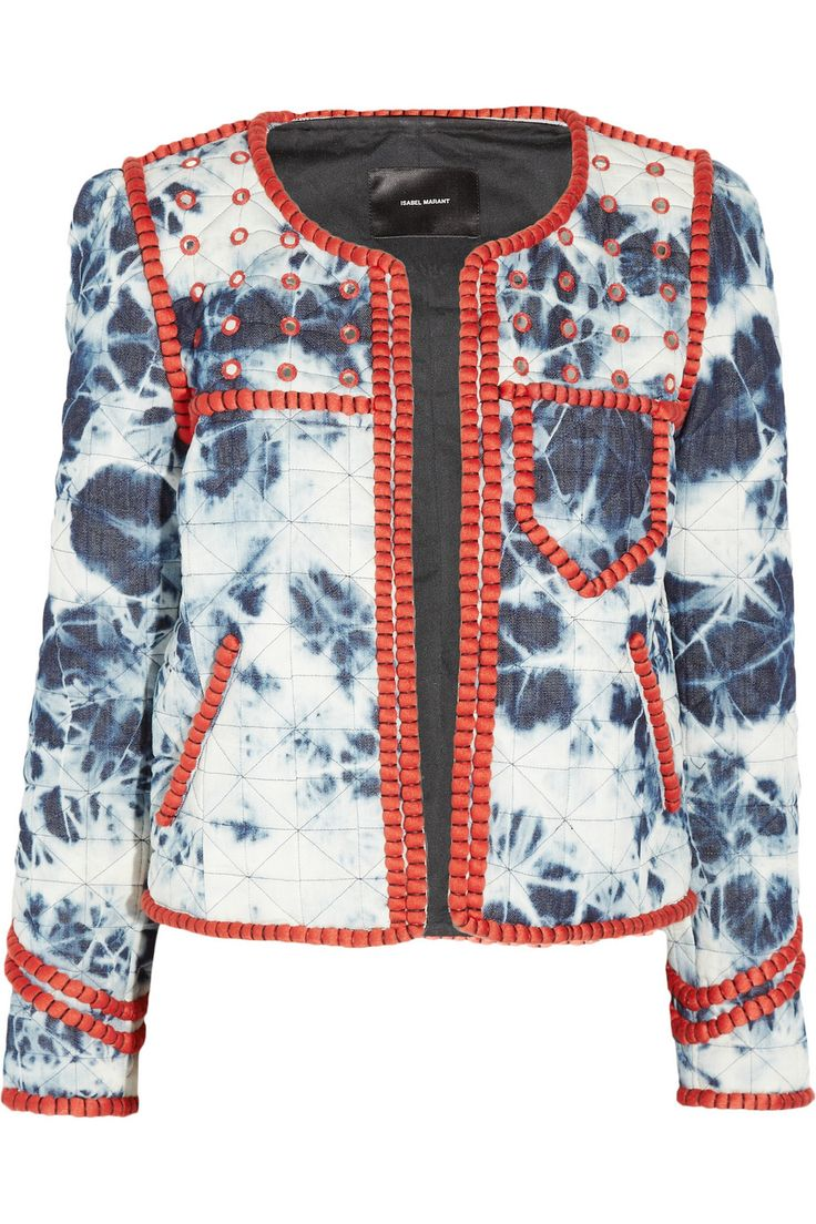 Isabel Marant|Wonda tie-dye stretch-cotton jacket|NET-A-PORTER.COM