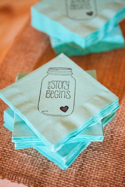 How cute are these cocktail napkins?! {Ardent Story Photography}