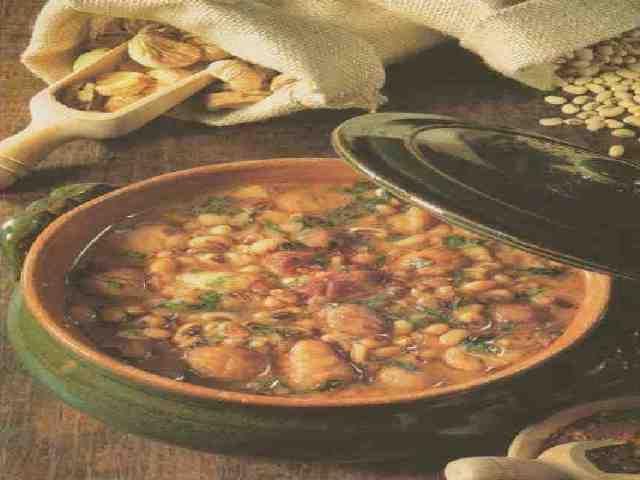 Zuppa fagioli e castagne
