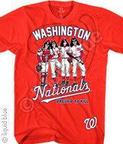 WASHINGTON NATIONALS DRESSED TO KILL RED T-SHIRT