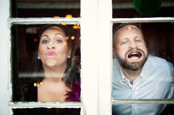 Hilarious engagement photo by Adam Nyholt | via junebugweddings.com