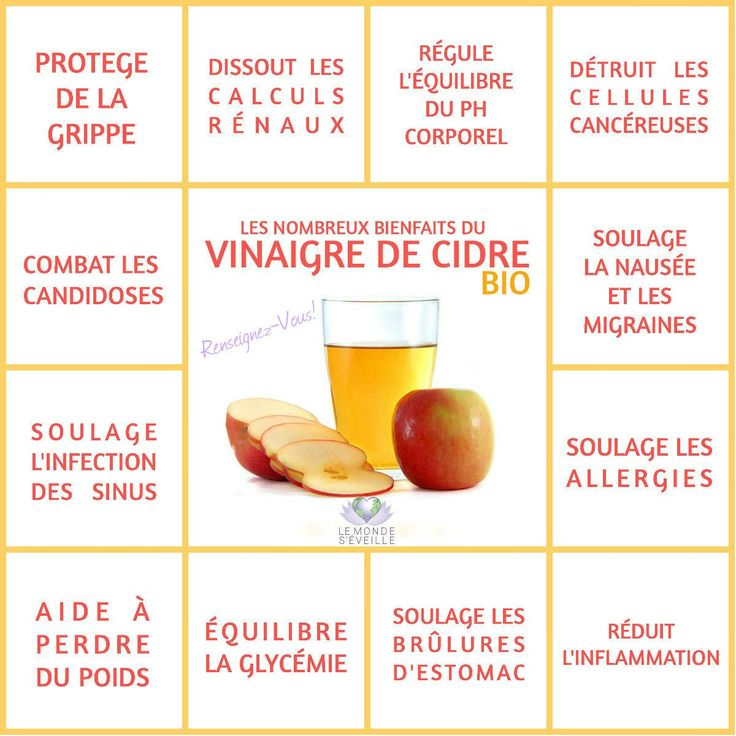 Les bienfaits du vinaigre de cidre | VINAIGRE DE CIDRE Le Monde s'Eveille Grâce à Nous Tous ♥