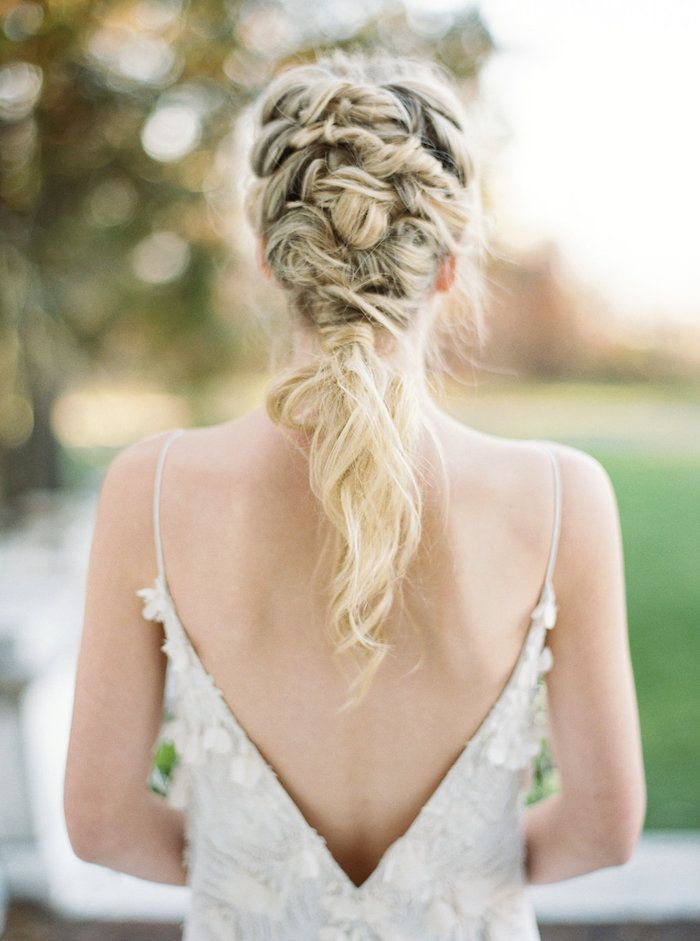 amazing twisted and knotted braid, wedding hair inspiration