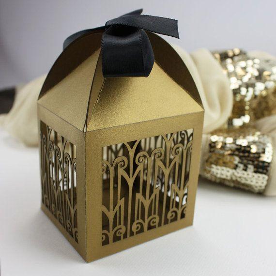 "Laser cut favor box - ""Art Deco"""