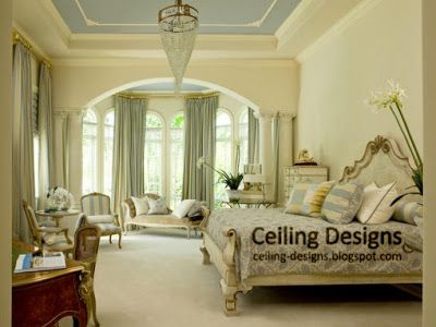 Lighting design for high ceillings luxurious bedroom for High ceiling bedroom decorating ideas
