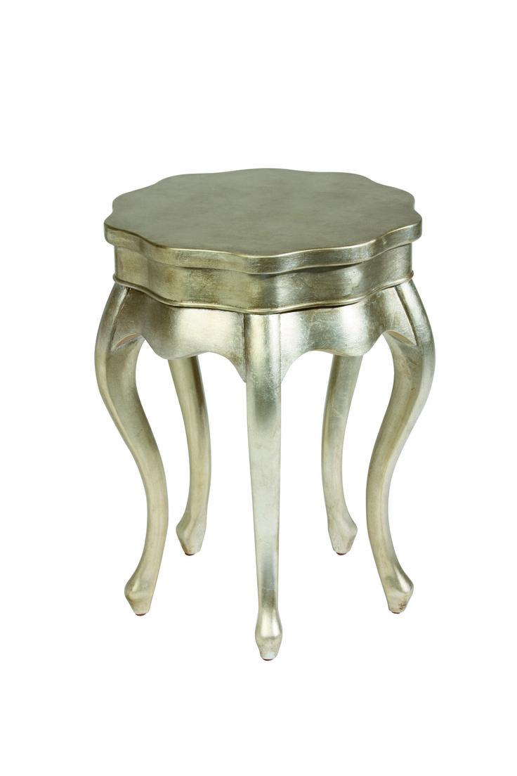 Silver Leaf Five Leg Table (Măsuță cu cinci picioare și finisaj foiță de argint)