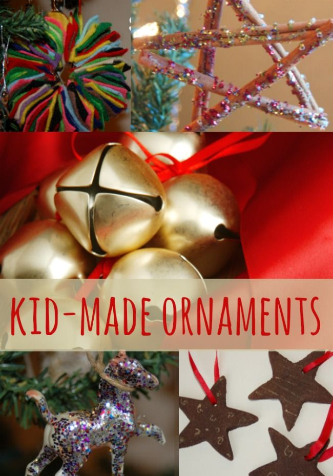 Homemade Christmas Ornaments that KIDS can make!