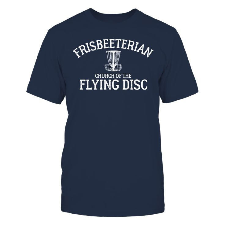 Frisbeeterian Funny Disc Golf Basket T-Shirt, A perfect gift for anyone who loves to play flying disc golf while banging the chains out on the course. Grab a disc in your funny disc golf shirt, play some disc golf with friends, and just relax while you go golfing. Your new shirt will go great with any new accessories and apparel while you... ,  Available Products:          Gildan Unisex T-Shirt - $24.95 Gildan Women's T-Shirt - $26.95 District Men's Premium T-Shirt - $27.95 District Women's…