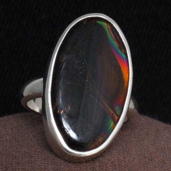 Oregon Fire Obsidian Ring.