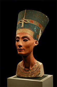The iconic bust of Nefertiti