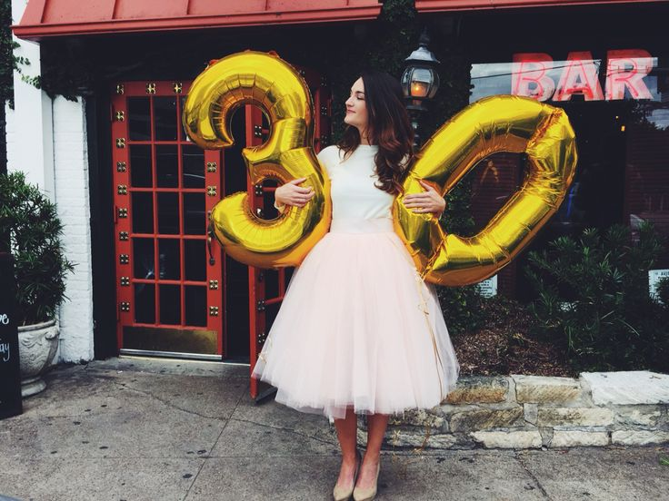 Gold number balloons for fun photos on your birthday