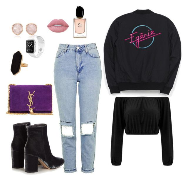 """""""Nekfeu concert"""" by mat-beades ❤ liked on Polyvore featuring Topshop, Gianvito Rossi, Yves Saint Laurent, Jaeger, Monica Vinader, Lime Crime, Armani Beauty, concert, french and fashionset"""