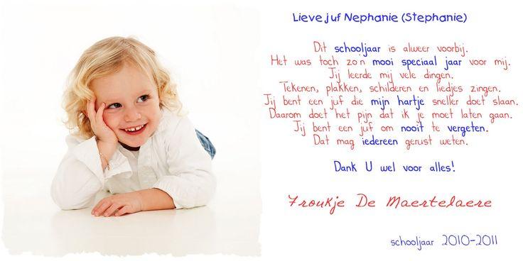 Froukje: Afscheid van de peuterklas, afscheid van juf Nephanie( Stephanie)