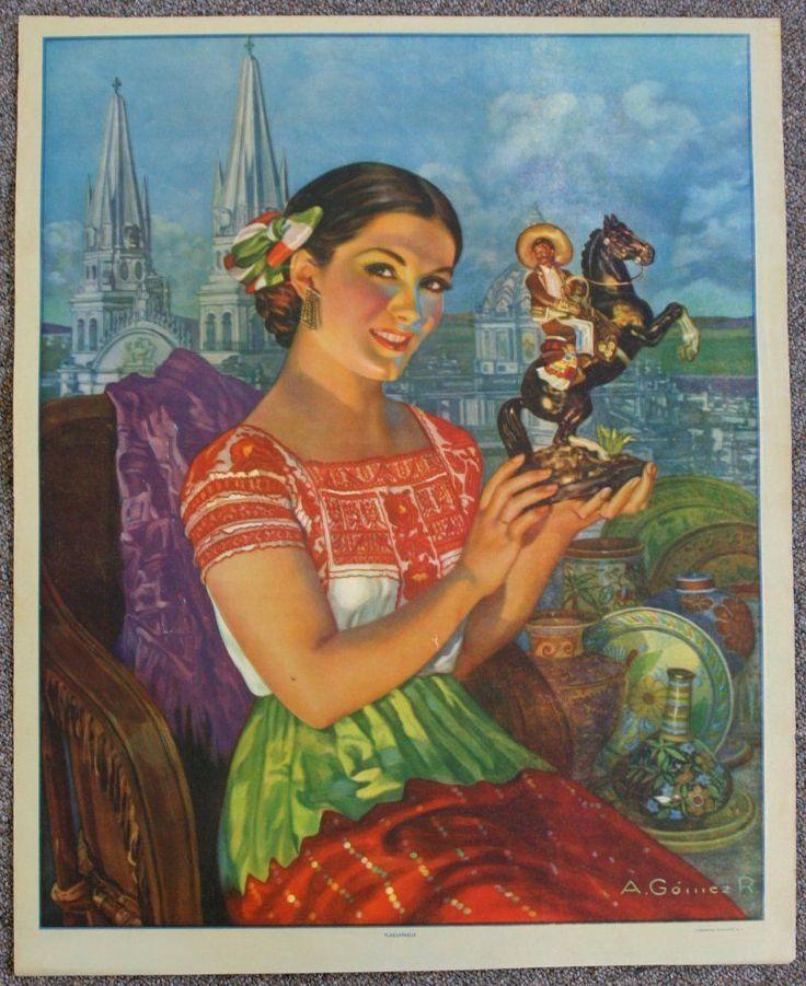vintage calendar art