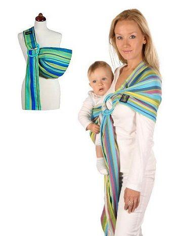 Nošení dětí v šátcích či nosítkách