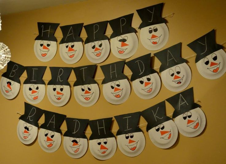 10+ ideas for Snowman Theme Birthday Party |