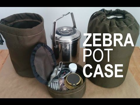 500 Denier Heavy Duty 2 Piece Case For The Zebra Loop Handle Pots Hy Camper Firebox And Bushcraft Camping Kit