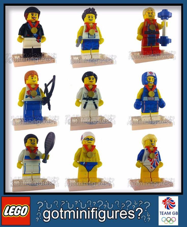LEGO® Olympic TEAM GB series SET OF 9 RARE minifigures BRAND NEW minifigs 8909 #LEGO