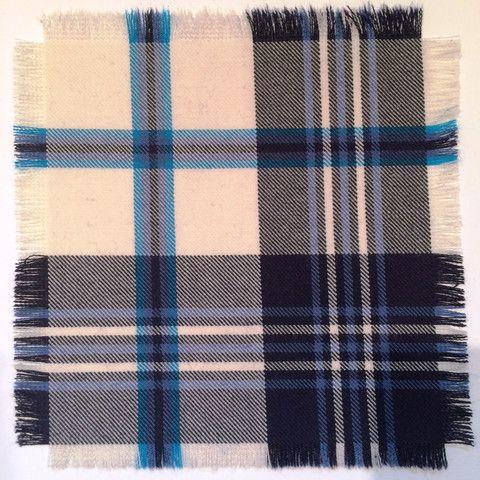 Navy Scott - 100% Wool Tartan Fabric – Highland In Style