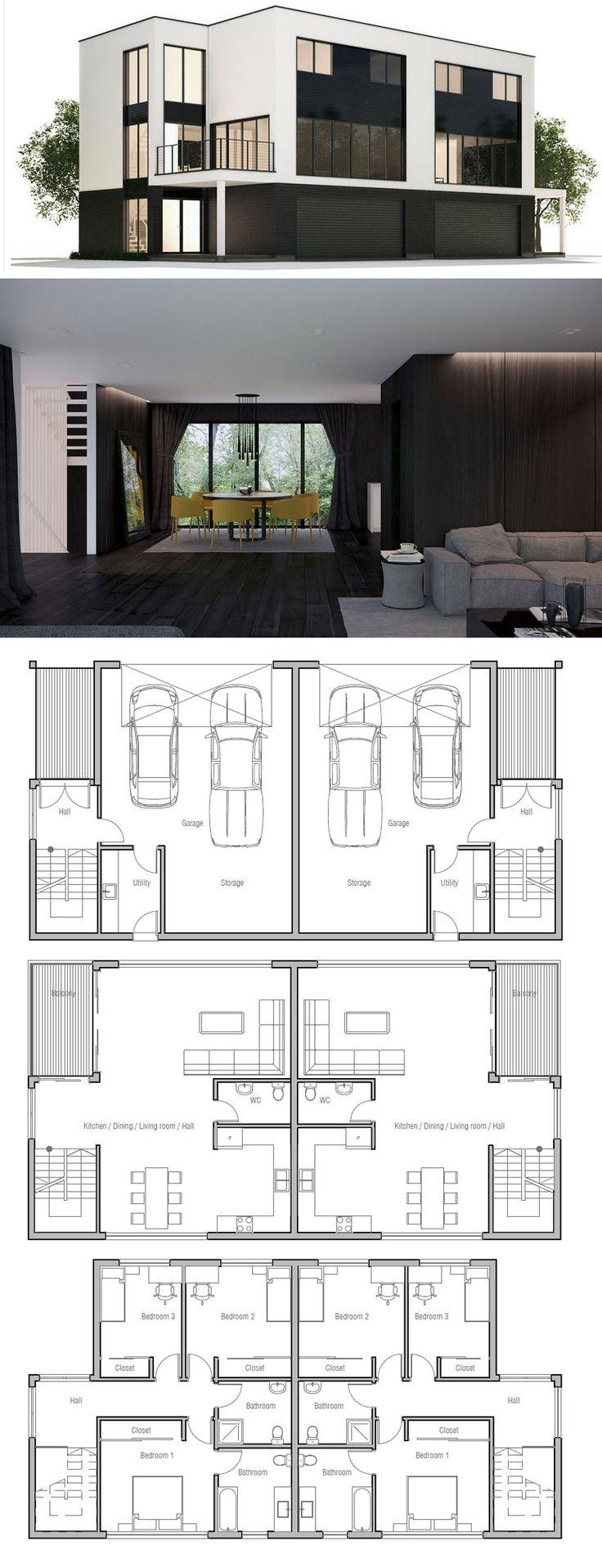 The 25+ best Duplex house plans ideas on Pinterest   Duplex plans ...