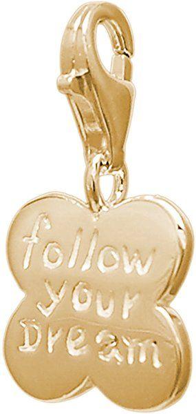 MELINA Women's Pendant Charm-Cloverleaf Stick Yellow Gold Plated 925 Silver 1801621: Amazon.co.uk: Jewellery