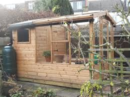 image result for combination shed and greenhouse