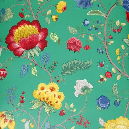 Pip Studio - Floral Fantasy Wallpaper - 341036 Green