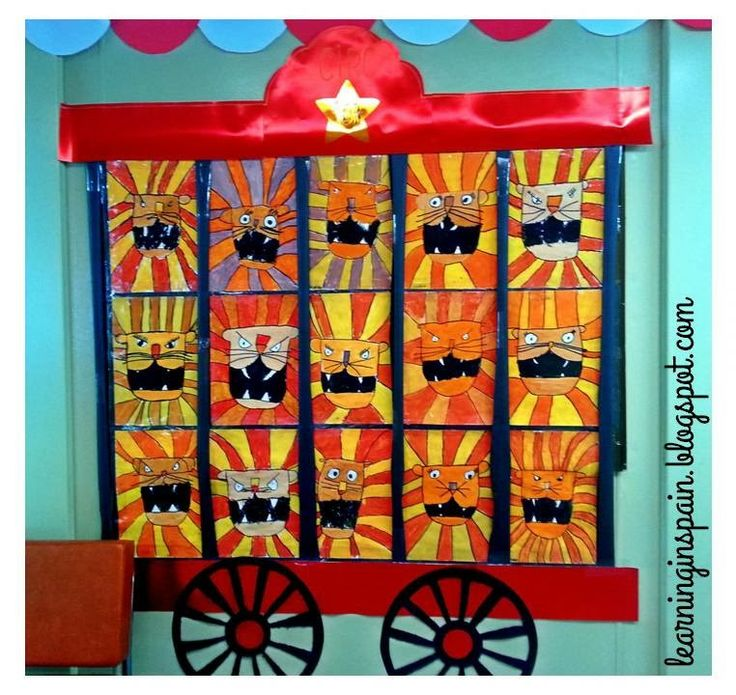 CIRCUS THEME ~ Could place students pictures or work in the 'cages'.