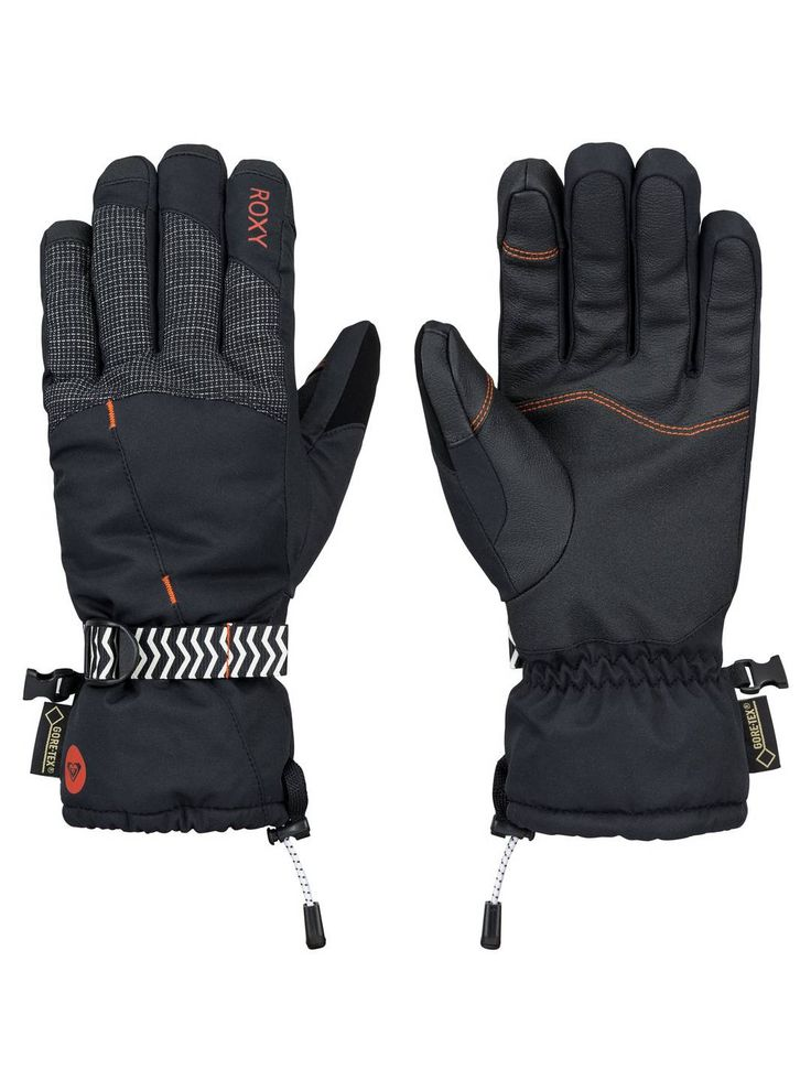 Regret wearing your warmest gloves on a warm sunny day? That's where the Crystal GORE-TEX® glove comes in. With a GORE-TEX® liner, these gloves promise to keep your hands dry. They also feature some key elements like touchscreen fingers and goggle wipe on the thumb. See for yourself at Roxy in the village.