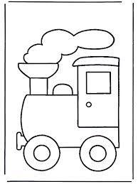 Afbeeldingsresultaat voor kleurplaat trein