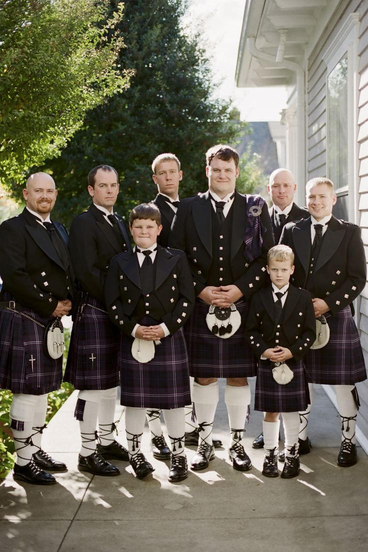 Nashville Garden Wedding Venue Groom and Groomsmen Kilts