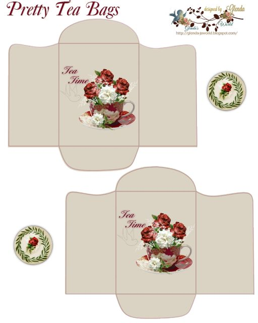 FREE from glenda's World : Cup-O-Roses Tea Bags