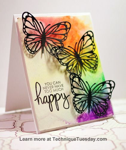 #papercrafting #cards idea: by Tobi Crawford. Created with clear stamps and steel dies from TechniqueTuesday.com.