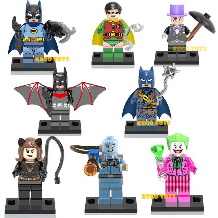 8 шт. Minifigures Marvel Super Hero Мстители Пирата Бэтмен будущего Мистер Фриз Building Blocks Устанавливает Кирпичи Детские Игрушки x0111