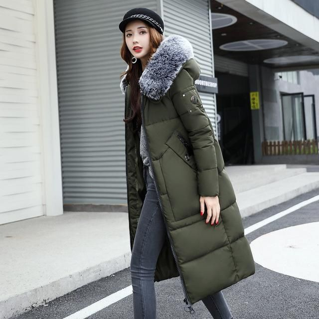Winter snow woman female Slim padded winter jackets and coats cold down cotton zipper jacket Down Jacket