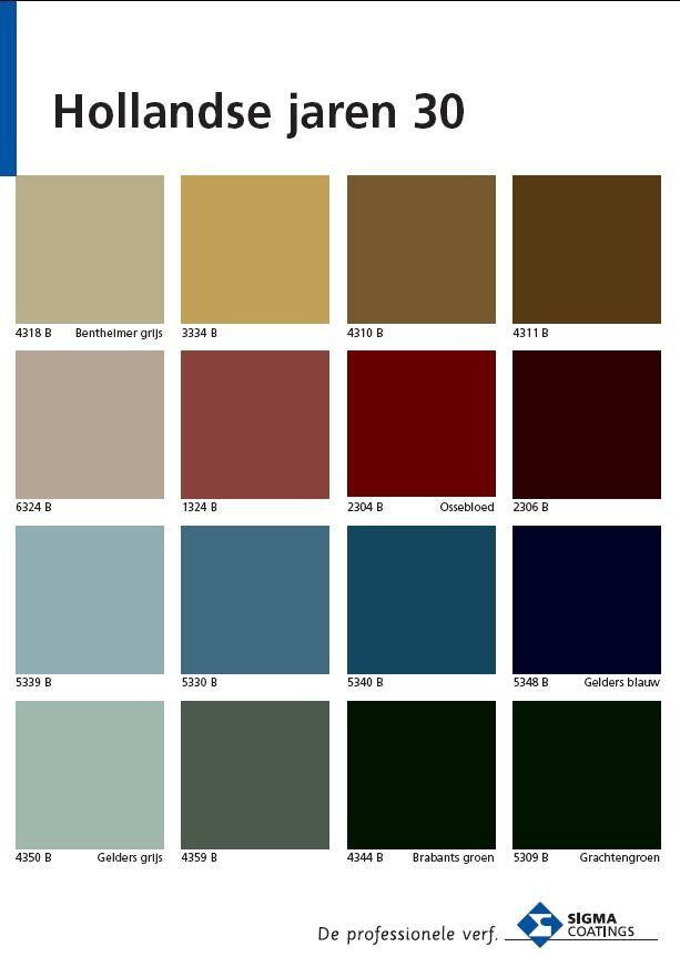 jaren 30 kleuren verf deuren boven warmwit Histor 701- historische kleurenschemas