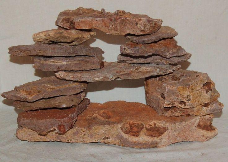 Ledge Stone Aquarium Cave Kit- Large Pile! Unique Flat Stacking Rocks