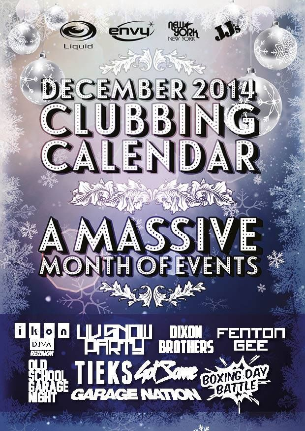 Don'y forget to pick up a copy of your Christmas Clubbing Calender