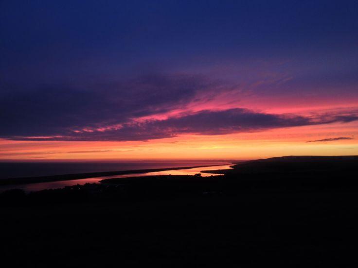 A beautiful August sunset.