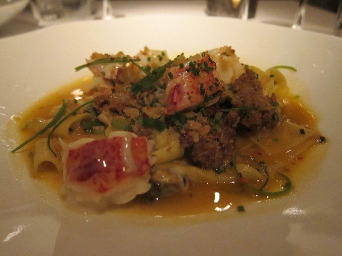 Gramercy Tavern: Lobster Pappardelle  #gramercytavern #michelin #danneymeyer #nyc #stormypeach #lobster #pasta #pappardelle